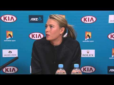Maria Sharapova press conference - Australian Open 2015