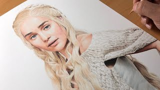 Drawing  Daenerys Targaryen (Game of Thrones) Emilia Clarke - Time-lapse | Artology