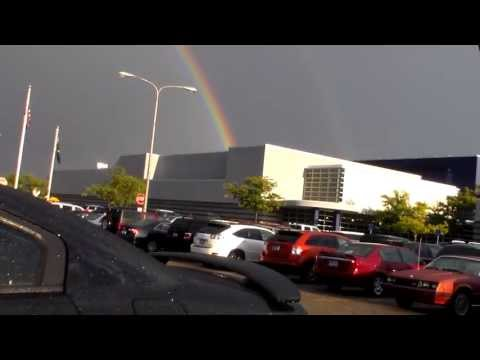 Double rainbow at Walled Lake Central High School