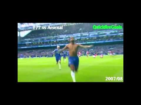Didier Drogba's all goals against Arsenal