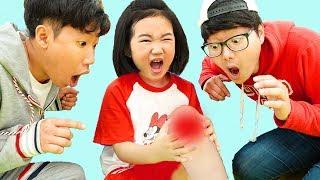 보람이와 또치의 뽀로로 밴드 스티커 놀이 The Boo Boo Song | Nursery Rhymes & Kids Songs