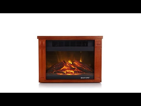 Heat Surge Mini Glo Infrared LED Fireplace Heater