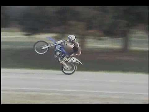 The Longest wheelie for a 14 Year old on a 250cc Dirtbike In Springfield, Arkansas near Greenbrier.