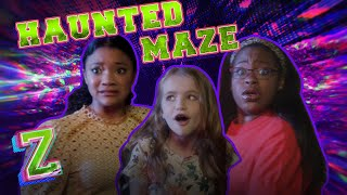Kylee, Carla & Kingston Tour a Haunted Maze!💀| ZOMBIES 2 | Disney Channel