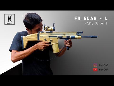 FN SCAR-L l Full Papercraft Build by Kun Craft