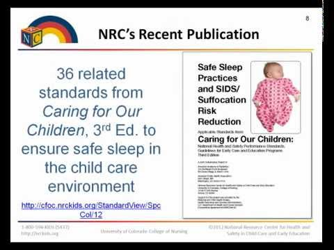 Safe Sleep Practices and SIDS/Suffocation Risk Reduction Webinar