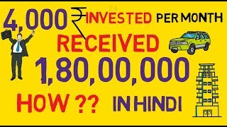 Invest Rs.4000 Per Month And Get 1.8 crore Rs. How to invest in Sip