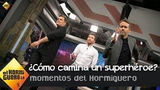 Ryan Reynolds y Josh Brolin enseñan a caminar como un superhéroe a Pablo Motos - El Hormiguero 3.0