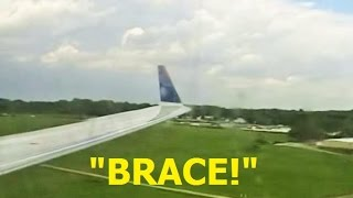 ONBOARD Emergency Landing! Delta Connection CRJ-200 in Akron-Canton (Landing Gear)