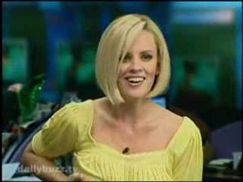 Jenny McCarthy Grabs Her Boob on The Daily Buzz