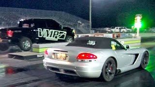 Turbo Viper Gets WALKED By Supercharged F150 (Yolodouchebag)