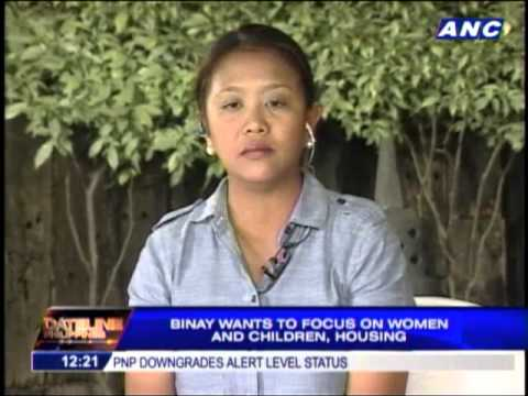 Nancy Binay wants to focus on women, children, housing