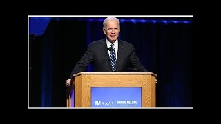 Biden blasts science denialists, calls to dramatically speed up fight against cancer