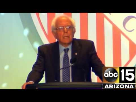 Can you count how many times Bernie Sanders says Hillary Clinton's name at LULAC?