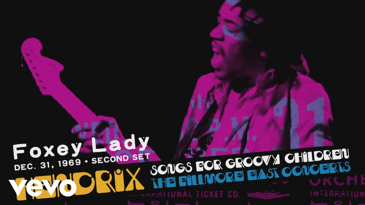 """Jimi Hendrix - """"Foxey Lady (12/31/69 2nd Set)""""の試聴音源を公開 新譜「Songs For Groovy Children: The Fillmore East Concerts」2019年11月22日発売予定 thm Music info Clip"""