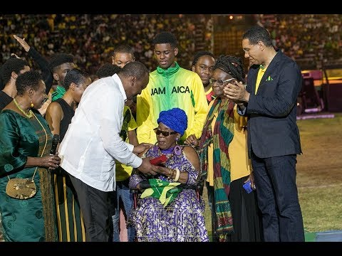 President Uhuru meets Bob Marley's widow at Jamaica's independence celebration