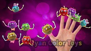Apple Finger | fruits finger family | learn fruits name | fruits song | nursery rhymes for kids