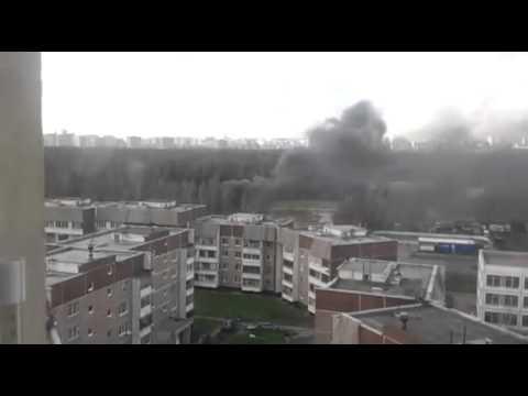 Вертолет упал на ленинградке