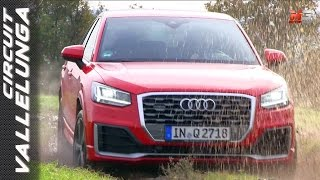 NEW AUDI Q2 QUATTRO 2017 - FIRST TEST ONLY SOUND VALLELUNGA CIRCUIT - OFF ROAD AND DRIVING TESTS