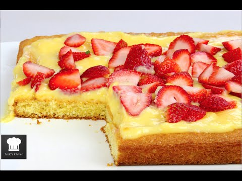 How to Make Strawberry Custard Cake via gk-howto.blogspot.com cake recipes
