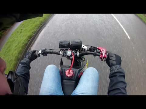 road legal pit bike last ride (RAW)