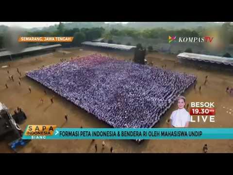 Formasi Indonesia dan Bendera Merah Putih Catat Rekor MURI