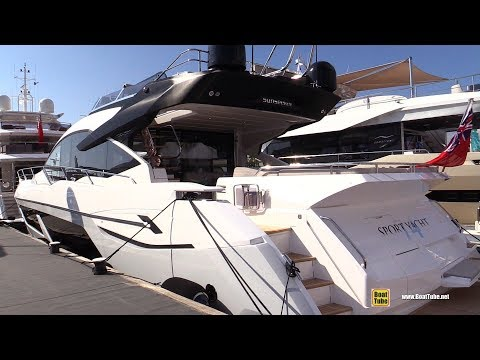 2019 Sunseeker 74 Sport Yacht - Deck and Interior Walkaround - 2018 Cannes Yachting Festival