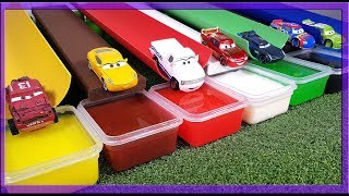 Learn Colors with Mcqueen Cruz Ramirez Jackson Storm Disney Cars 3 color changing race