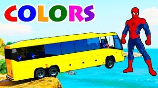 LEARNING COLORS with Colors Tucks for Kids & Learn Colours with Bus