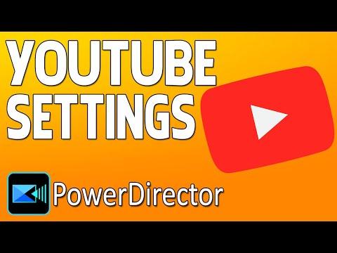 CyberLink PowerDirector 16   Best Render Settings for YouTube 🔴1080p HD - 4K - 60FPS