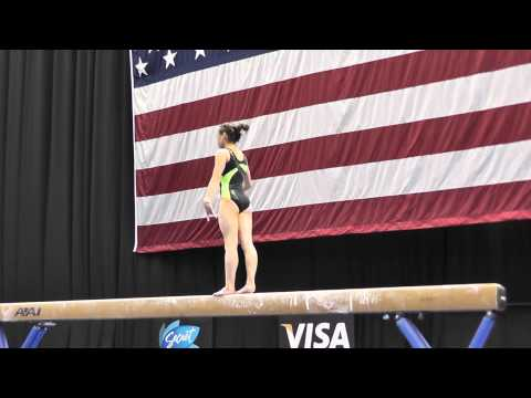 Katelyn Ohashi - Balance Beam - 2012 Visa Championships Podium Training