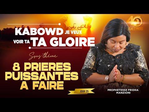 JEÛNE ET PRIÈRE I J25.2 8  PRIERES PUISSANTES A FAIRE BY PROPHÉTESSE FRIDHA DEBORAH