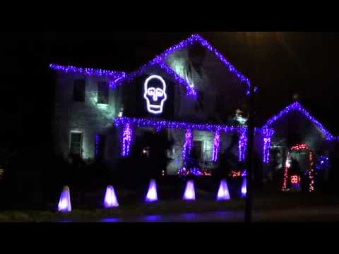 Halloween Light Show 2011 - Ghostbusters Music Videos