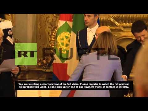 Italy: Matteo Renzi sworn in as youngest ever Italian PM