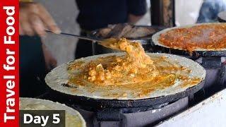 Mumbai Street Food Day - Paneer Tikka Dosa, Pav Bhaji, Bhel Puri, and Sev Puri