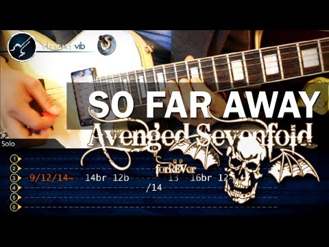 Como Tocar So Far Away - Avenged Sevenfold - Guitarra Electrica Solo (hd) Tutorial video