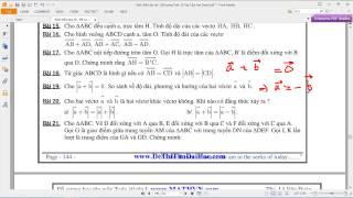 [TOÁN 10 HH] I.A ĐẠI CƯƠNG VECTOR 19 Bài 19  So sánh phương chiều độ lớn vector a b = 0