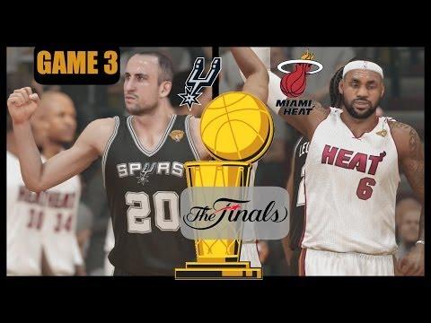 2014 NBA Finals: Heat vs Spurs - Game 3 Sim (NBA 2K14) PS4