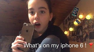 What's on my iPhone 6 !❣️