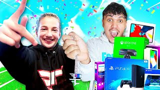 SURPRISING FAZE EWOK FOR JOINING FAZE! (13 Year Old Deaf Girl Gamer)