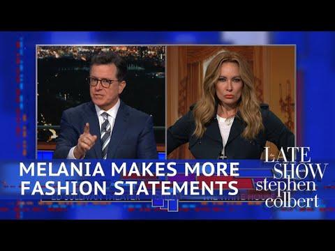 Melania Trump Has An Entire 'Hidden Message' Wardrobe