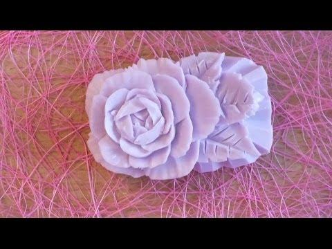 Как вырезать розу из мыла видео