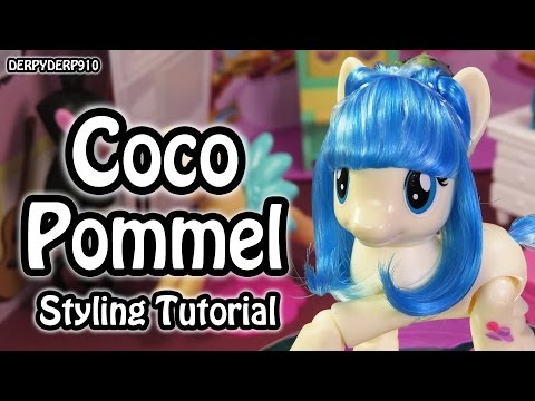 My Little Pony:  Miss Coco Pommel Hair Styling Tutorial How To (Explore Equestria!!) MLP Toy DIY
