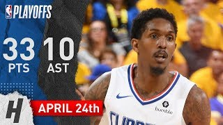 Lou Williams Full Game 5 Highlights Clippers vs Warriors 2019 NBA Playoffs - 33 Pts, 10 Ast, 4 Reb!