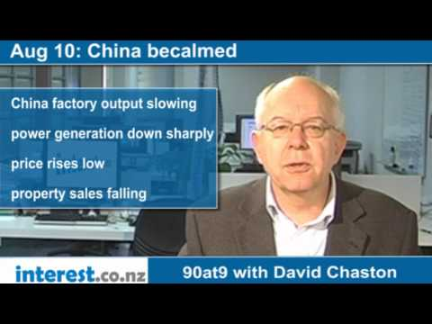90 seconds at 9 am: China becalmed (news with David Chaston)