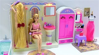 Barbie Dress Up Barbie Rapunzel Morning Routine From USA Pencilmation