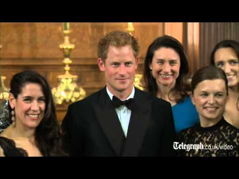 Prince Harry jokes about sitting with 'two men' at gala