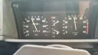 Autobianchi A112 Junior guages while running