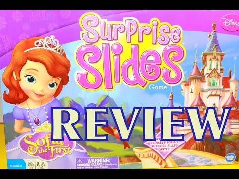SOFIA THE FIRST Surprise Slides GAME Like Disney Princess FROZEN Game Review AllToyCollector