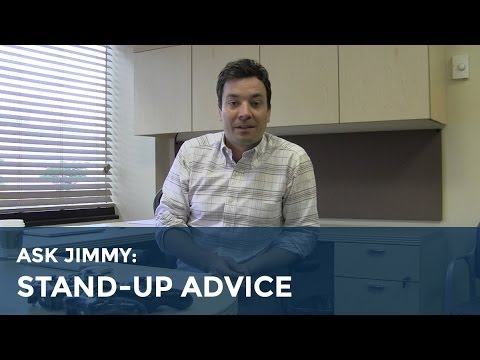 (Video) Jimmy Fallon Gives Advice To Up And Coming Comedians!
